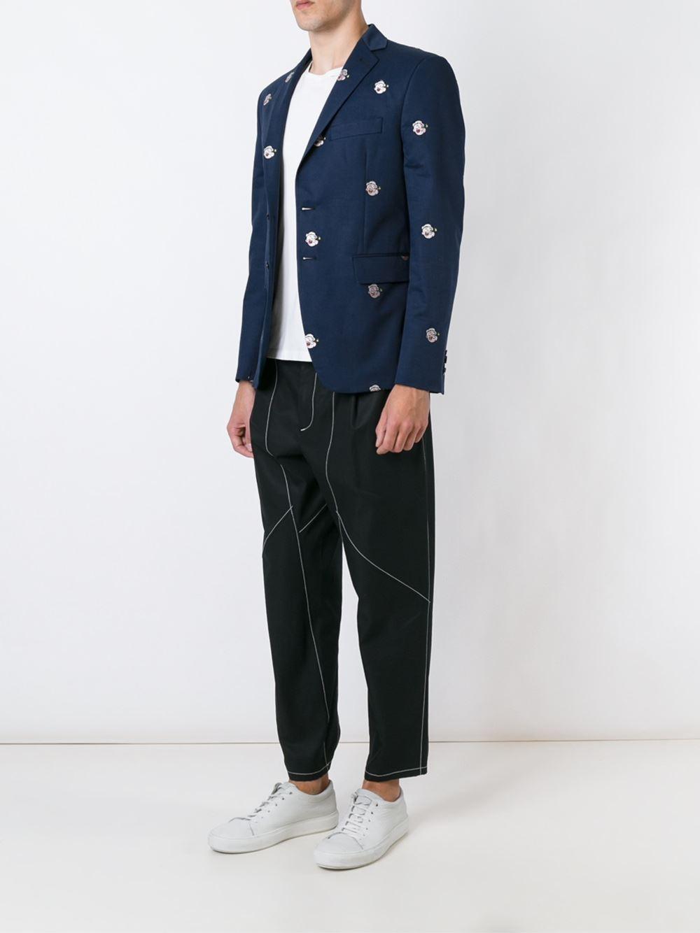 LC23 Cotton Popeye Blazer in Blue for Men