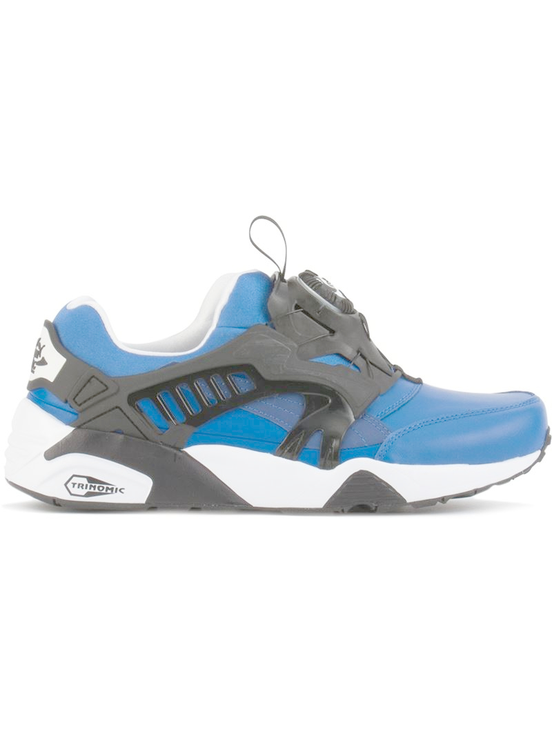 puma 39 disc blaze leather 39 sneakers in blue for men lyst. Black Bedroom Furniture Sets. Home Design Ideas