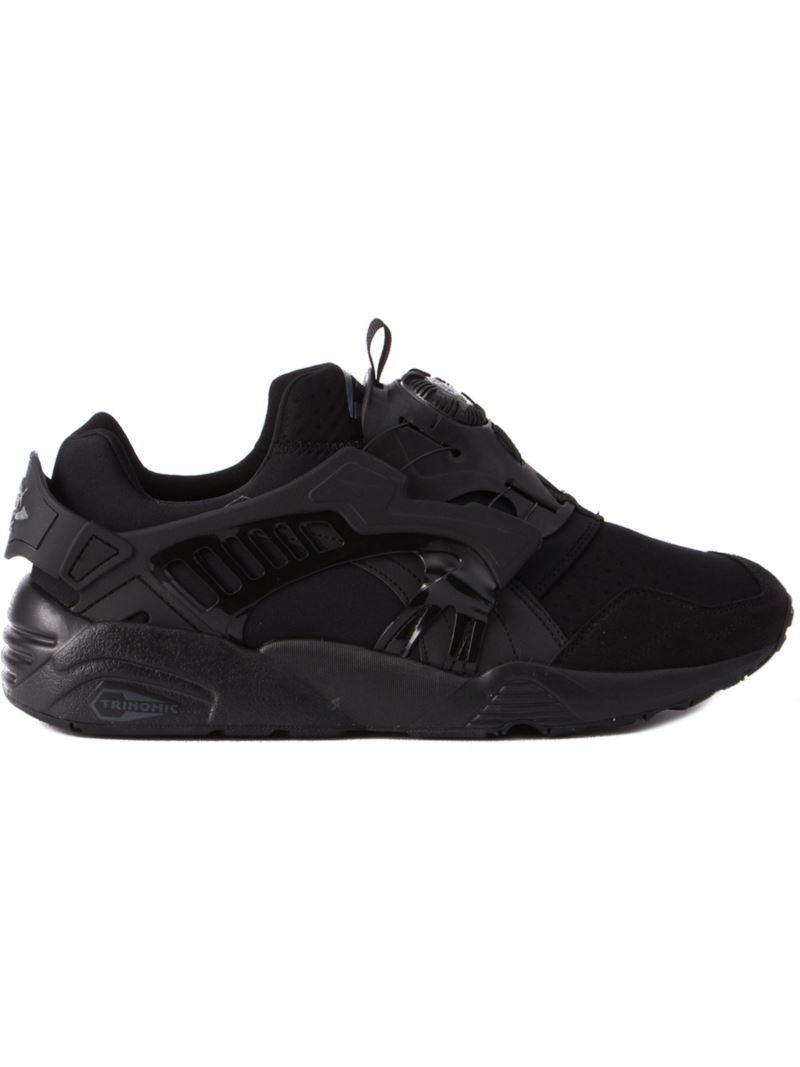 puma 39 trinomic disc blaze 39 sneakers in black for men lyst. Black Bedroom Furniture Sets. Home Design Ideas