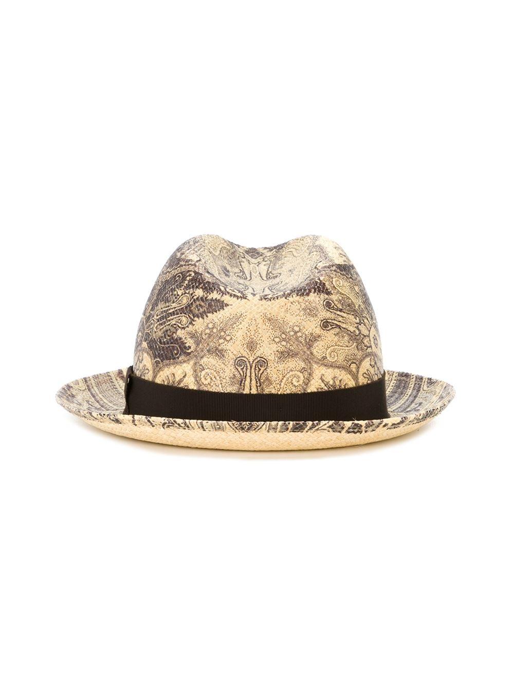 Lyst - Etro Paisley Pattern Hat In Black For Men-9745