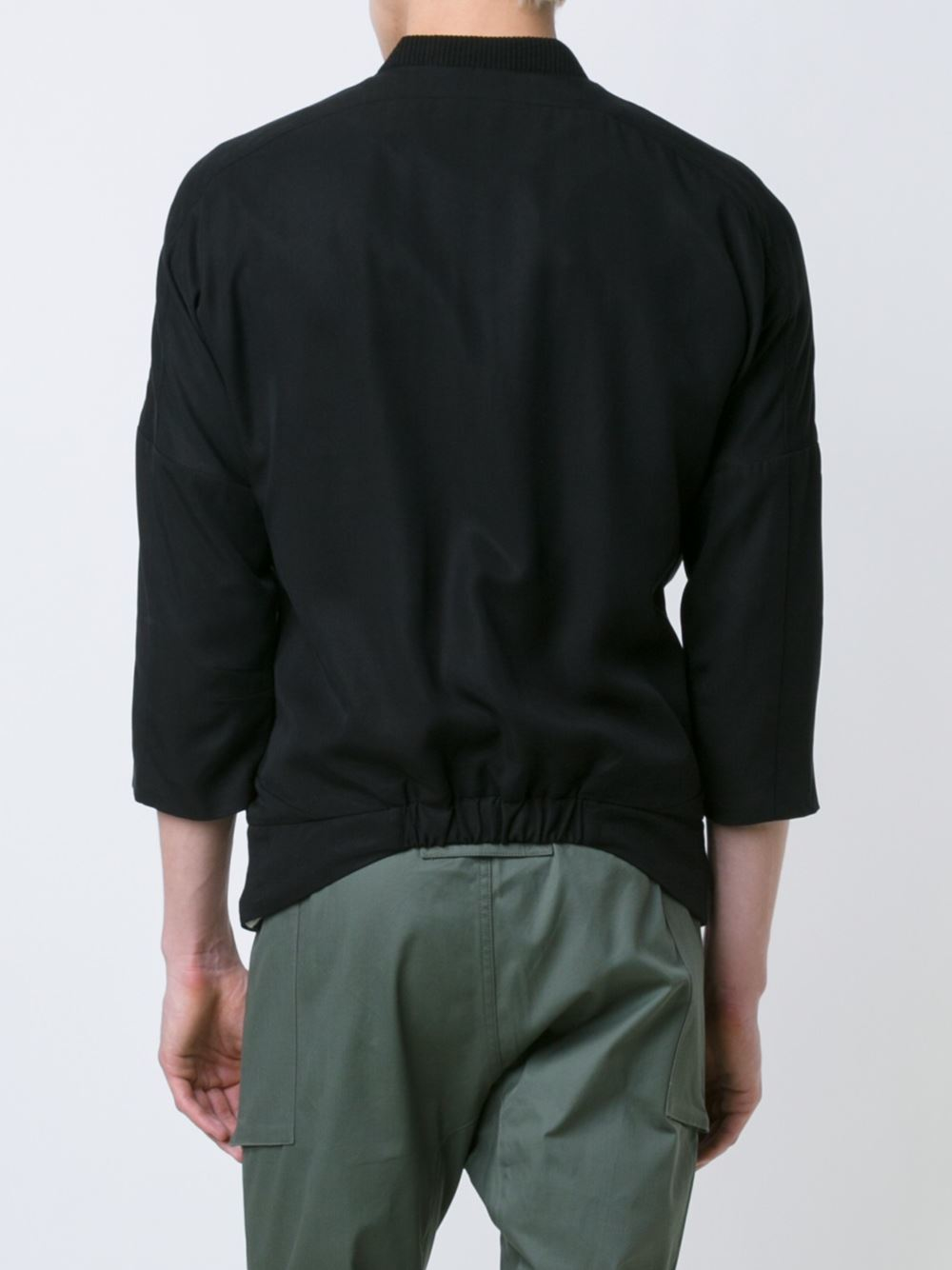 Lyst - Chapter Three-quarters Sleeve Lightweight Jacket In Black For Men
