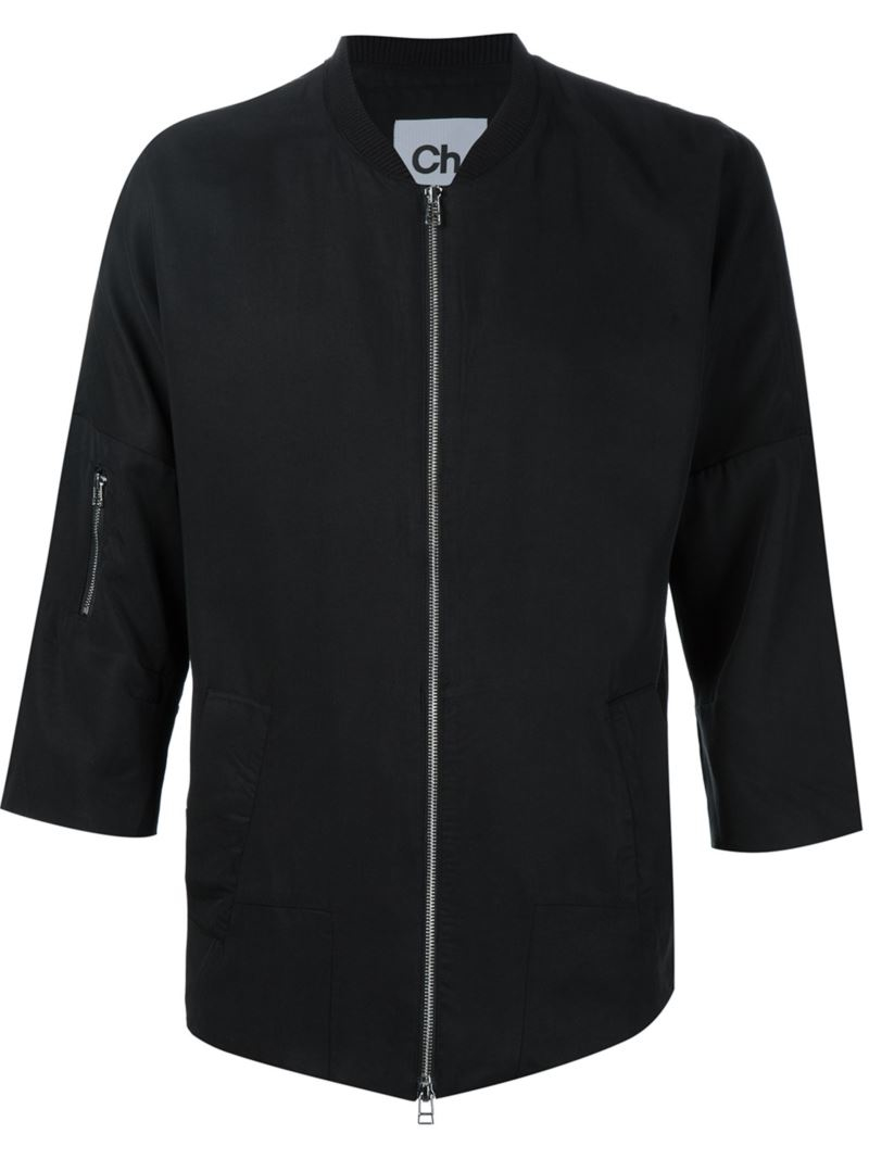 Chapter Three-quarters Sleeve Lightweight Jacket In Black For Men | Lyst