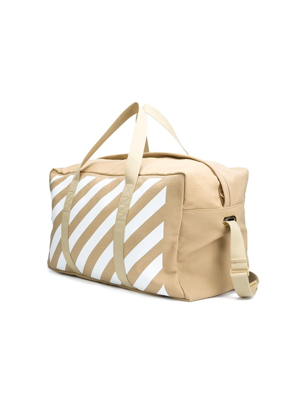 Off-White c/o Virgil Abloh Cotton Striped Holdall in Brown for Men