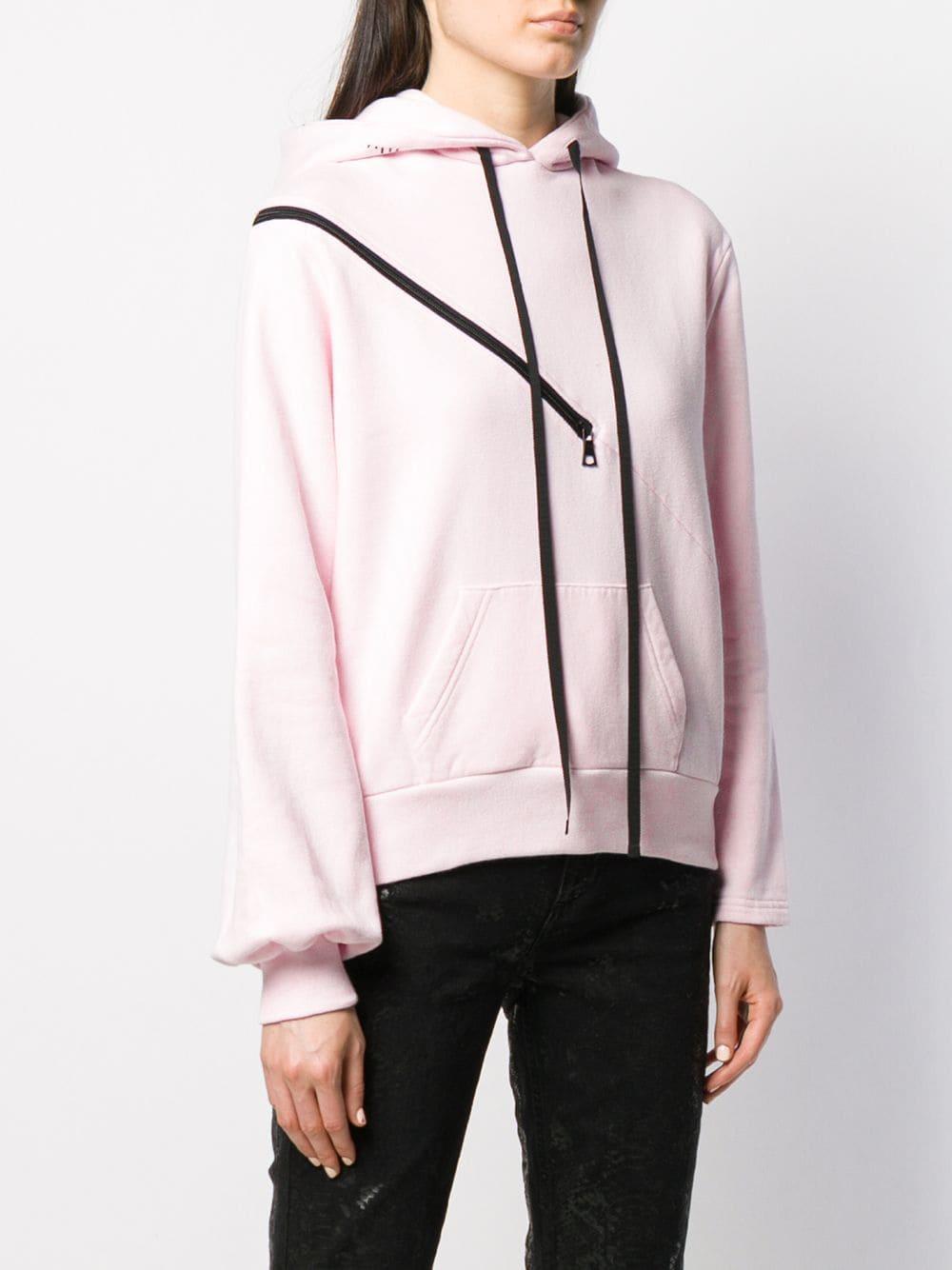 Jersey con detalles en contraste con cremallera Unravel Project de Algodón de color Rosa