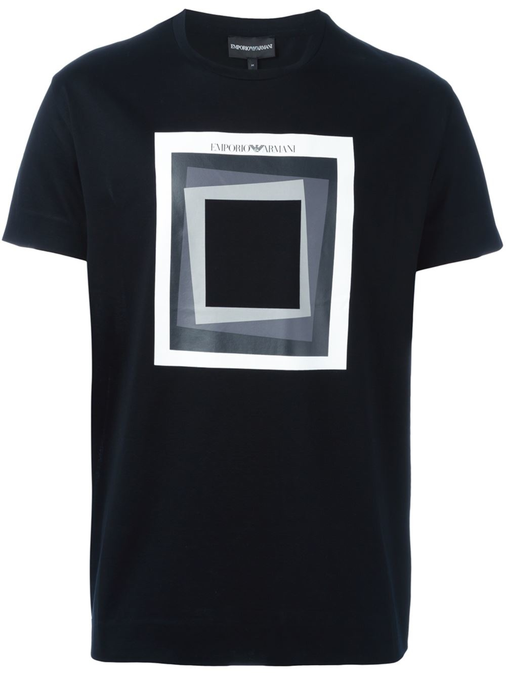 Lyst Emporio Armani Square Print T Shirt In Black For Men