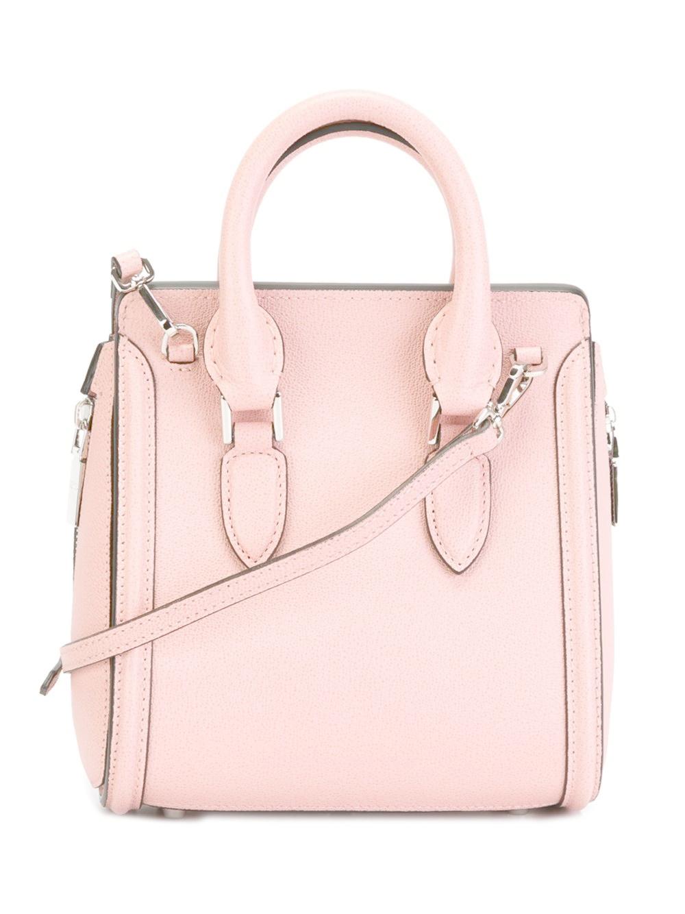Alexander mcqueen Mini 'heroine' Shoulder Bag in Natural ...