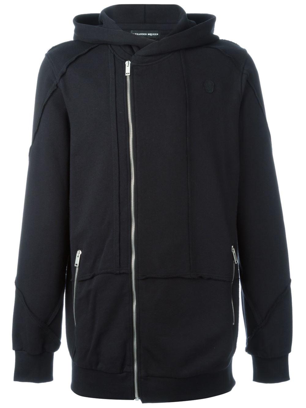 alexander mcqueen oversized hoodie in black for men lyst. Black Bedroom Furniture Sets. Home Design Ideas