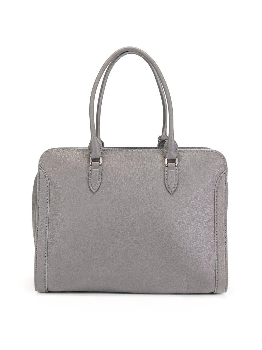 Alexander McQueen Leather 'padlock' Tote in Grey (Grey)