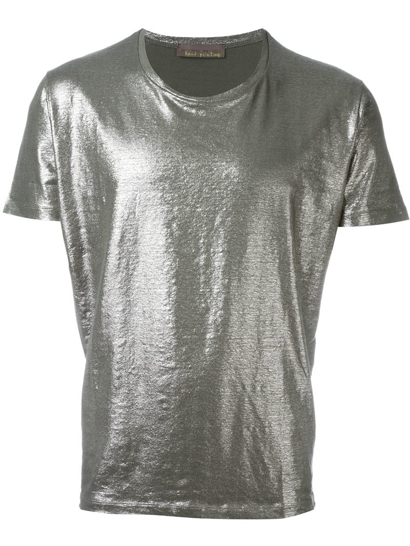 Lyst etro metallic t shirt in metallic for men for Etro men s shirts