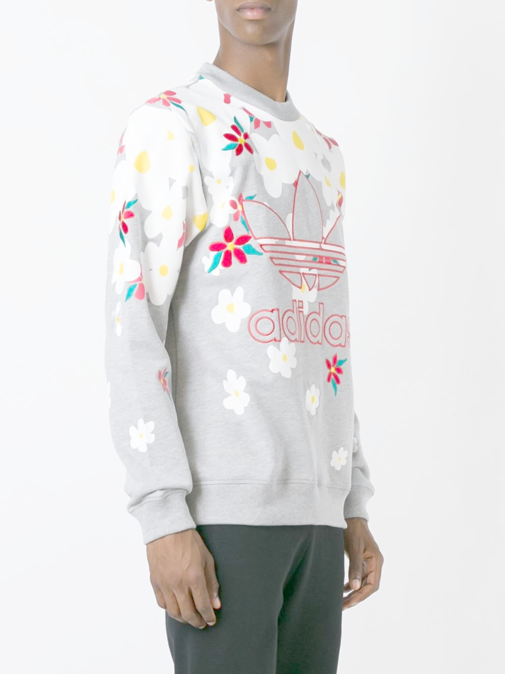 adidas Originals Cotton X Pharrell 'daisy' Sweatshirt in Grey (Grey) for Men