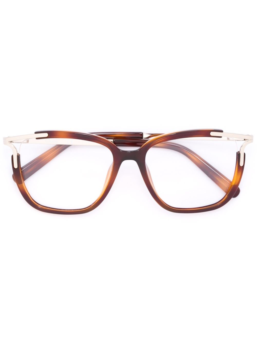 chlo 233 square frame glasses in brown lyst