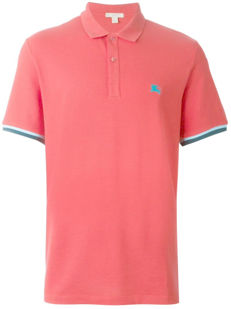 Lyst Burberry Brit Embroidered Logo Polo Shirt In Pink