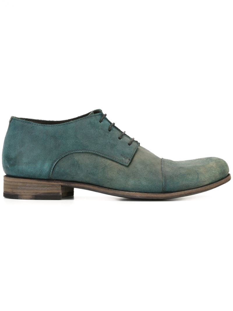 Ma+ Distressed Oxford Shoes In Green For Men (BLUE) | Lyst