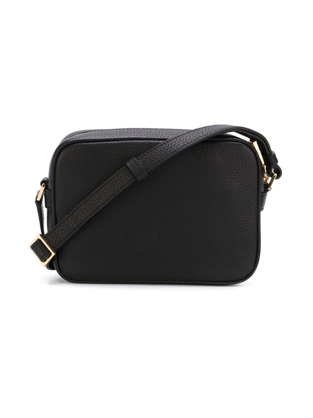 versace medusa shoulder bag in black for men lyst. Black Bedroom Furniture Sets. Home Design Ideas