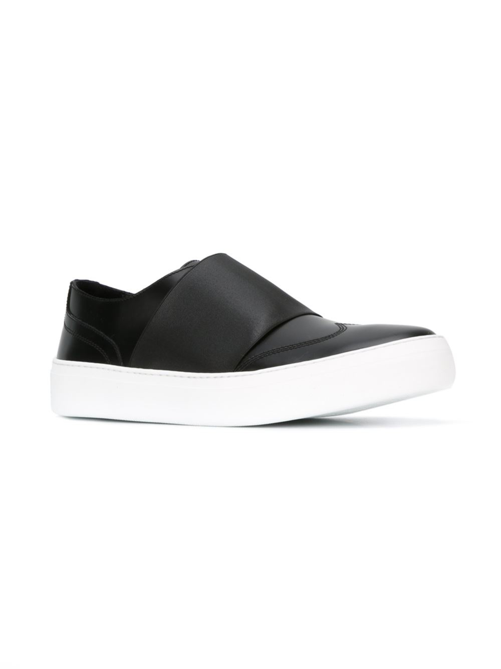 Sneaker Slip On Adam leather stretch stripe black Jimmy Choo London Finishline Online 0YHIH