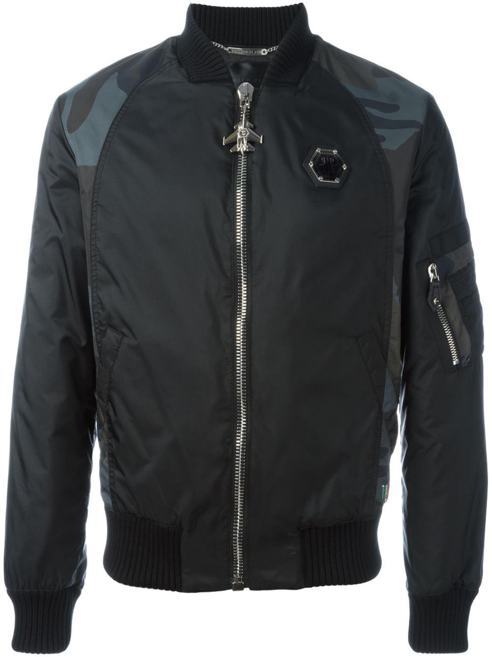 philipp plein 39 brunifoglia 39 bomber jacket in black for men lyst. Black Bedroom Furniture Sets. Home Design Ideas
