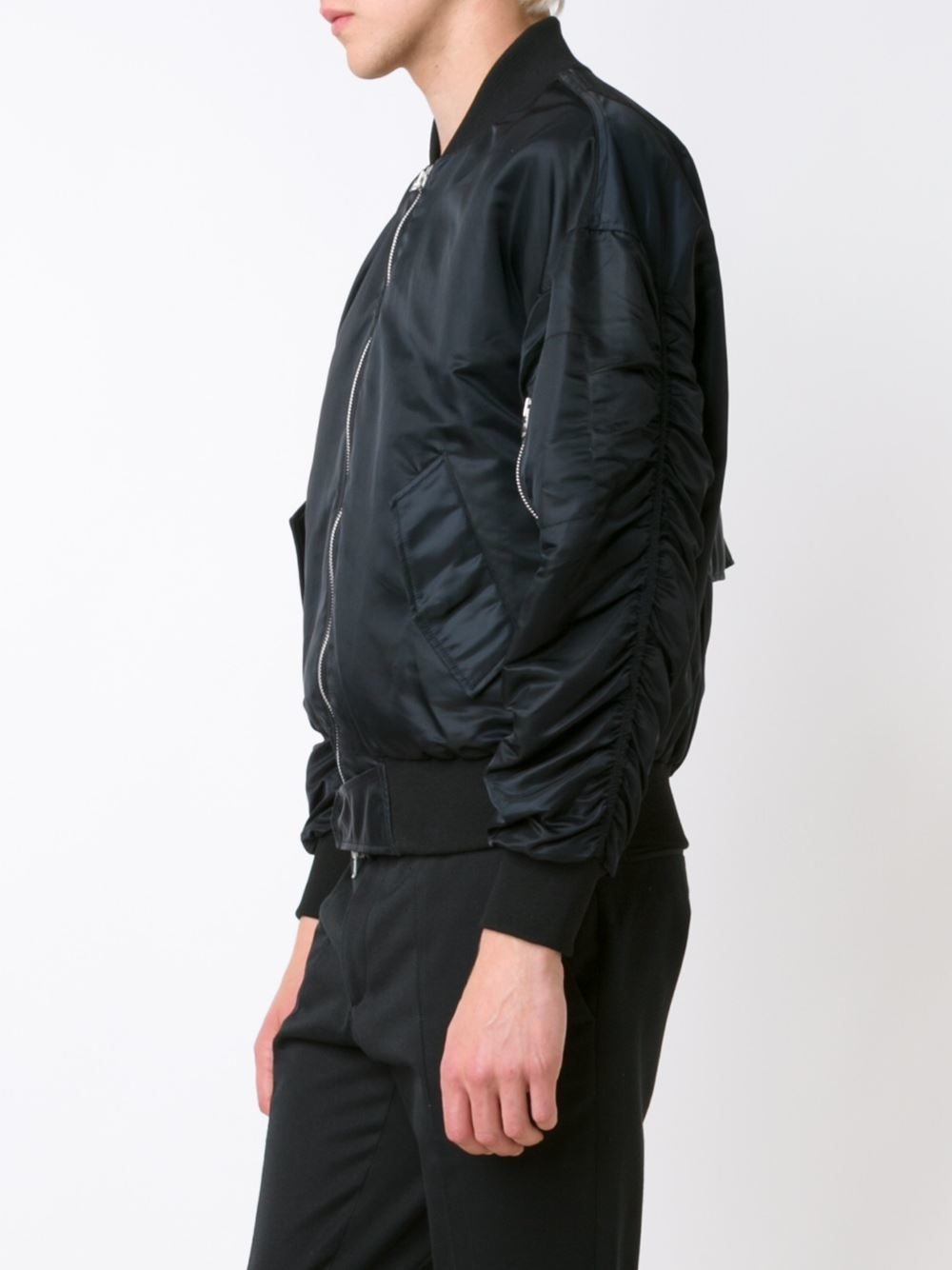 Fear Of God Silk The Fourth Collection Satin Bomber Jacket in Black for Men