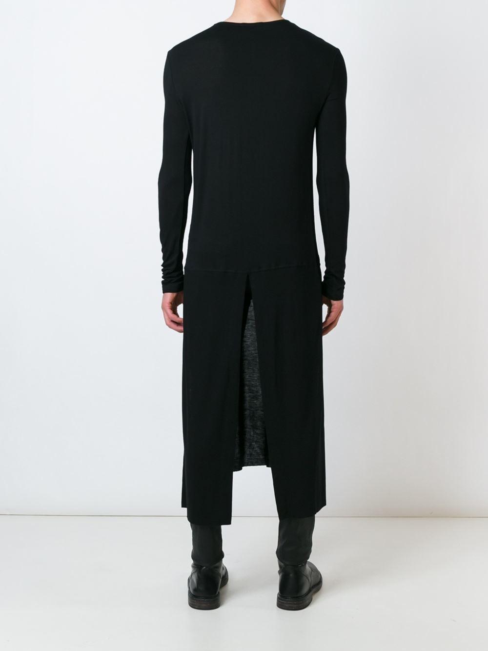 Unconditional rear split tail t shirt in black for men lyst for Bradley wiggins tattoo sleeve