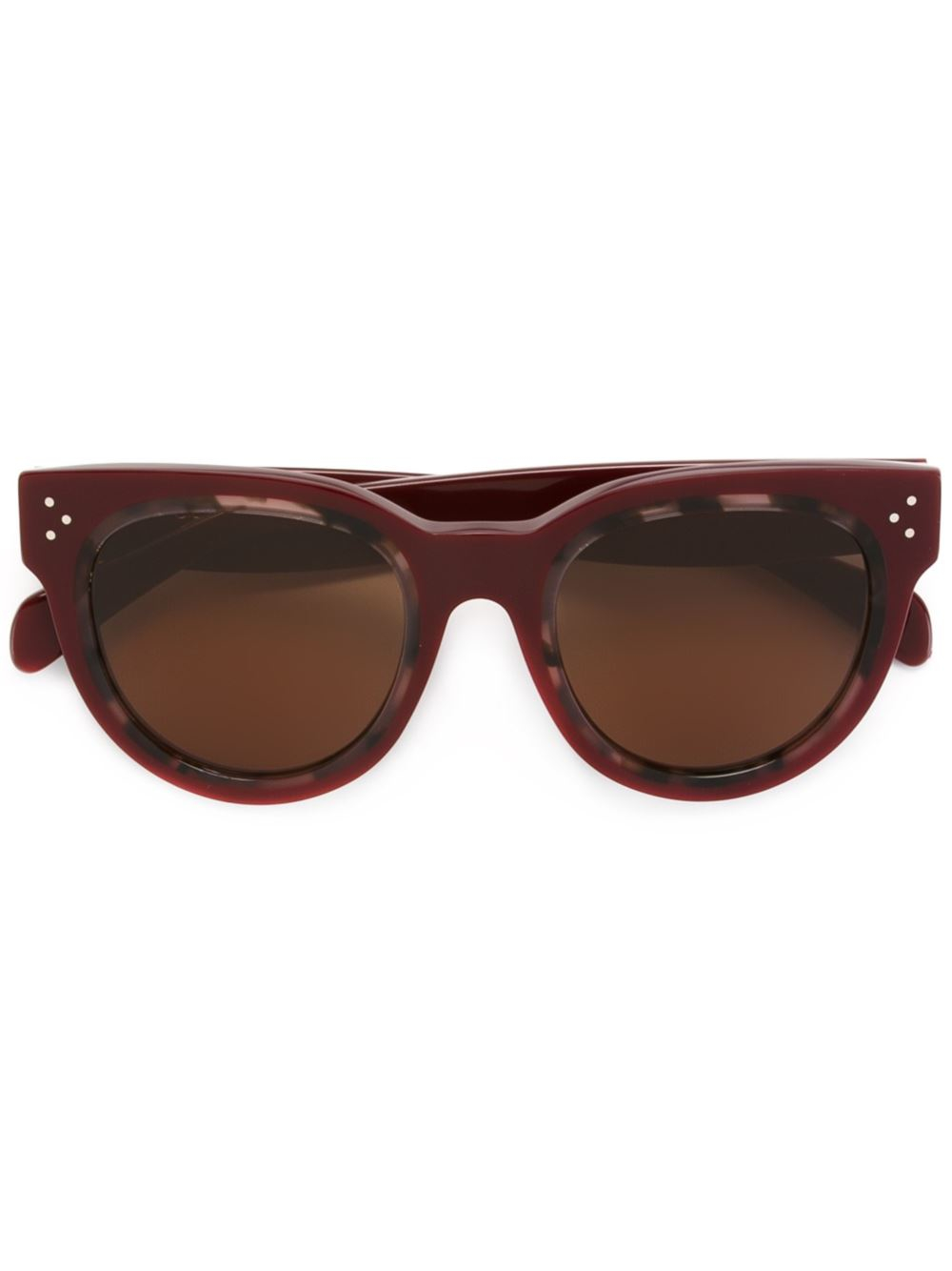 Celine Gold Frame Sunglasses : Celine Round Frame Sunglasses in Red Lyst
