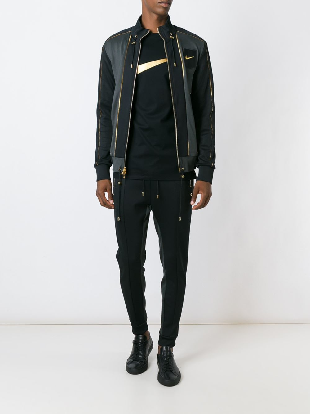 Nike Cotton Lab X Olivier Rousteing Sports Jacket in Black for Men