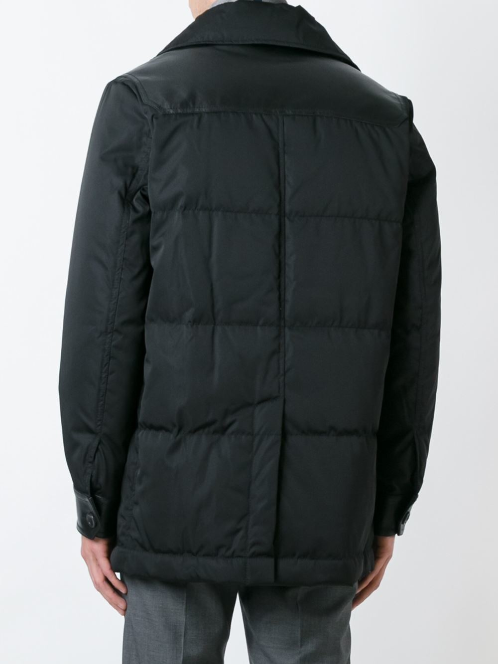 Bally Double Breasted Padded Jacket in Black for Men