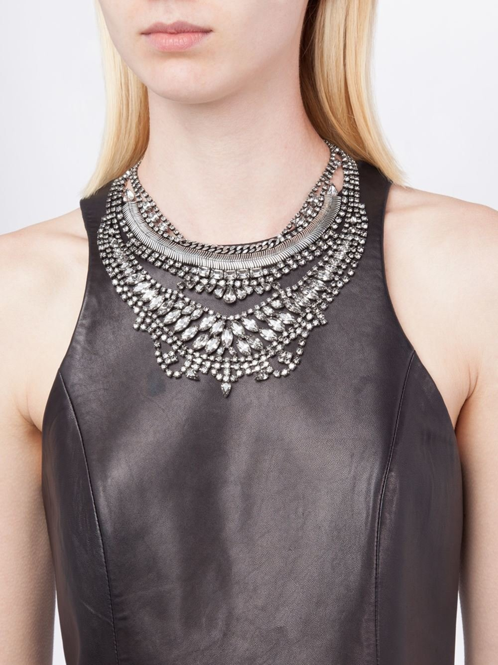 DYLANLEX 'bobbie' Necklace in Metallic (Blue)