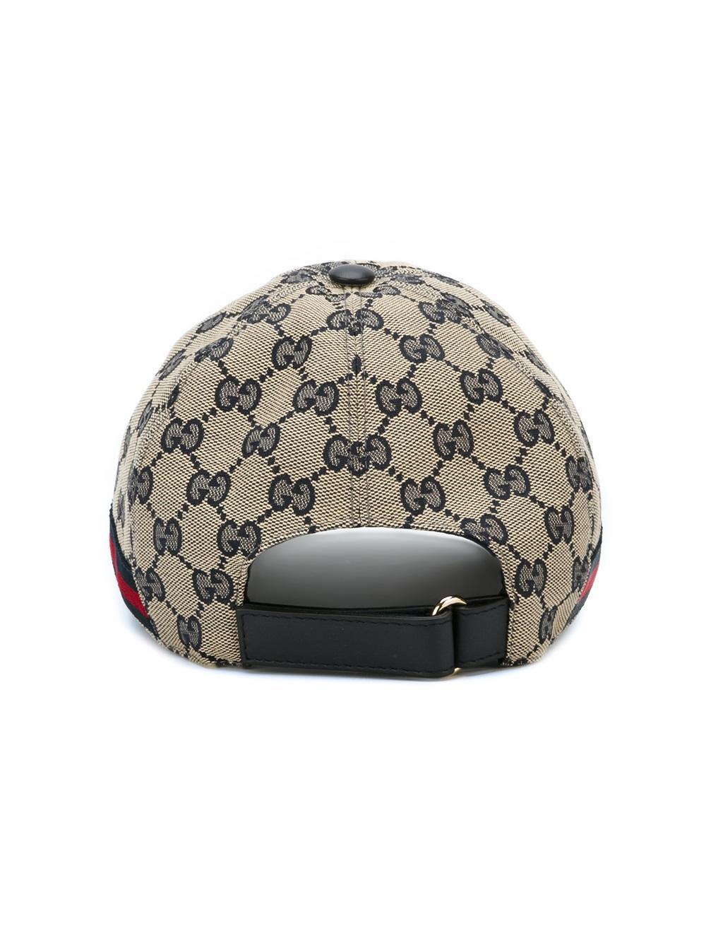 gucci 39 original gg 39 baseball cap with web for men lyst. Black Bedroom Furniture Sets. Home Design Ideas