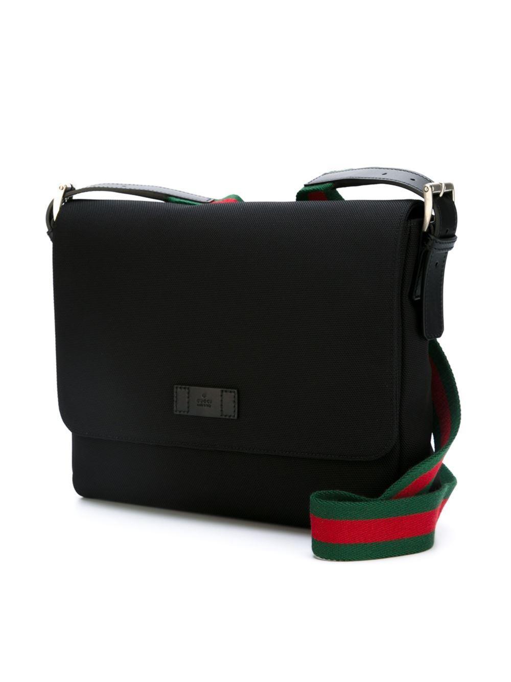 Gucci Techno Messenger Bag In Black For Men Lyst