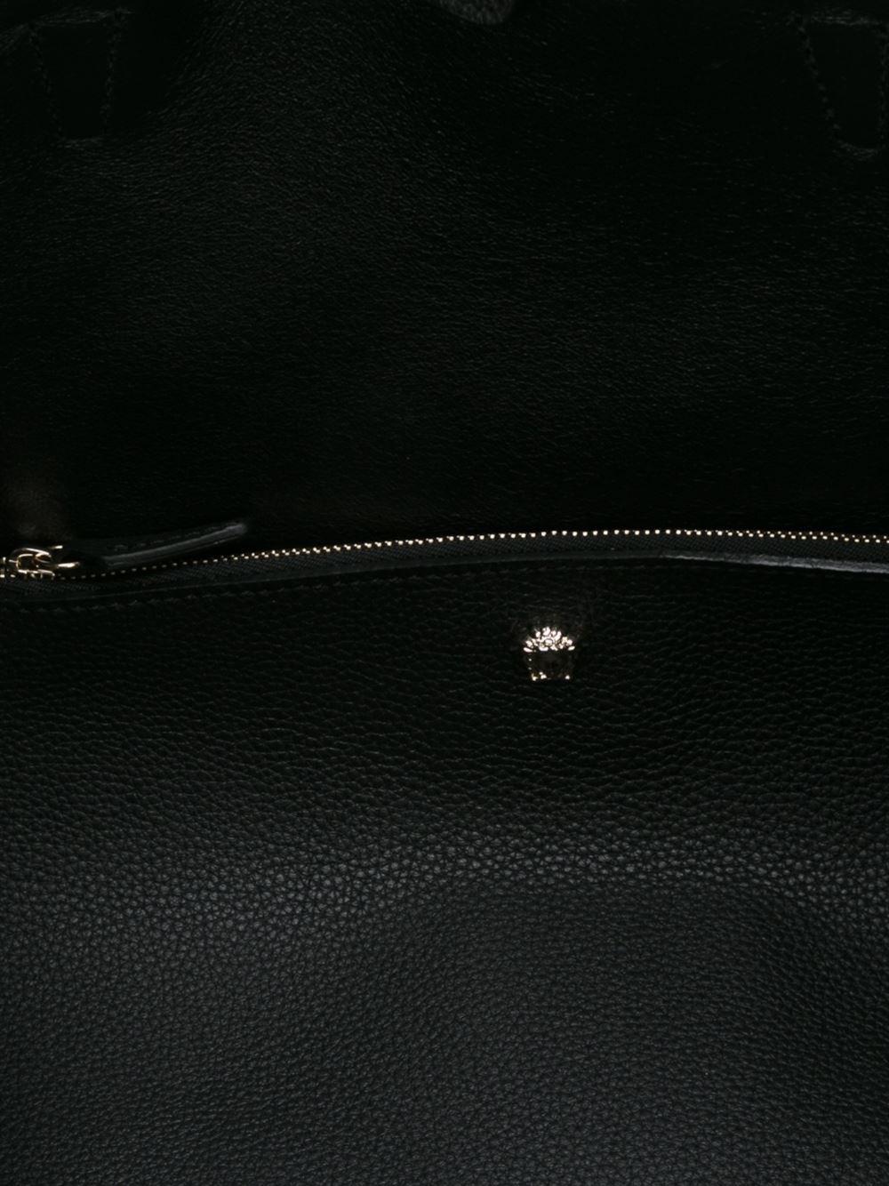Versace Leather Black Medusa Tote