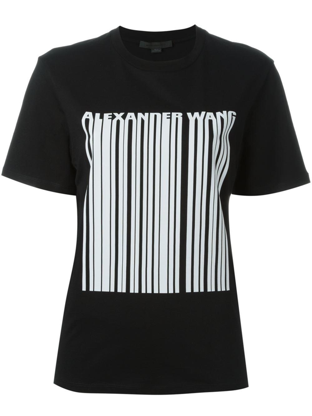 Alexander Wang Qr Code Print T-shirt in Black for Men - Lyst