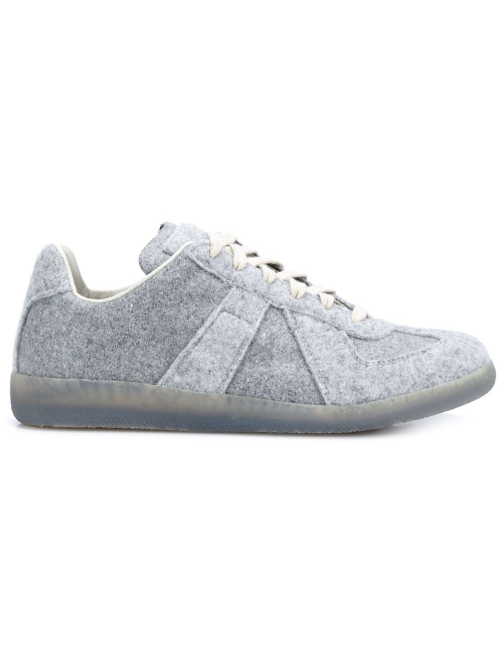 maison margiela 39 replica 39 sneakers in gray grey lyst. Black Bedroom Furniture Sets. Home Design Ideas