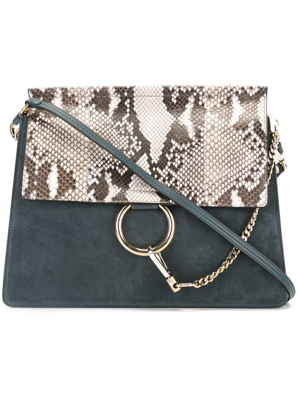 chlo 39 faye 39 shoulder bag in blue lyst. Black Bedroom Furniture Sets. Home Design Ideas