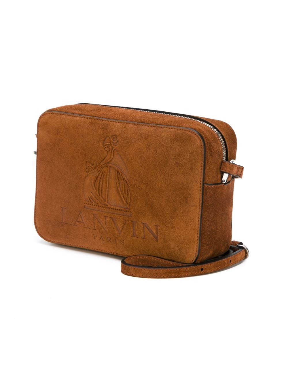 Lanvin Nomad Suede Camera Bag in Brown