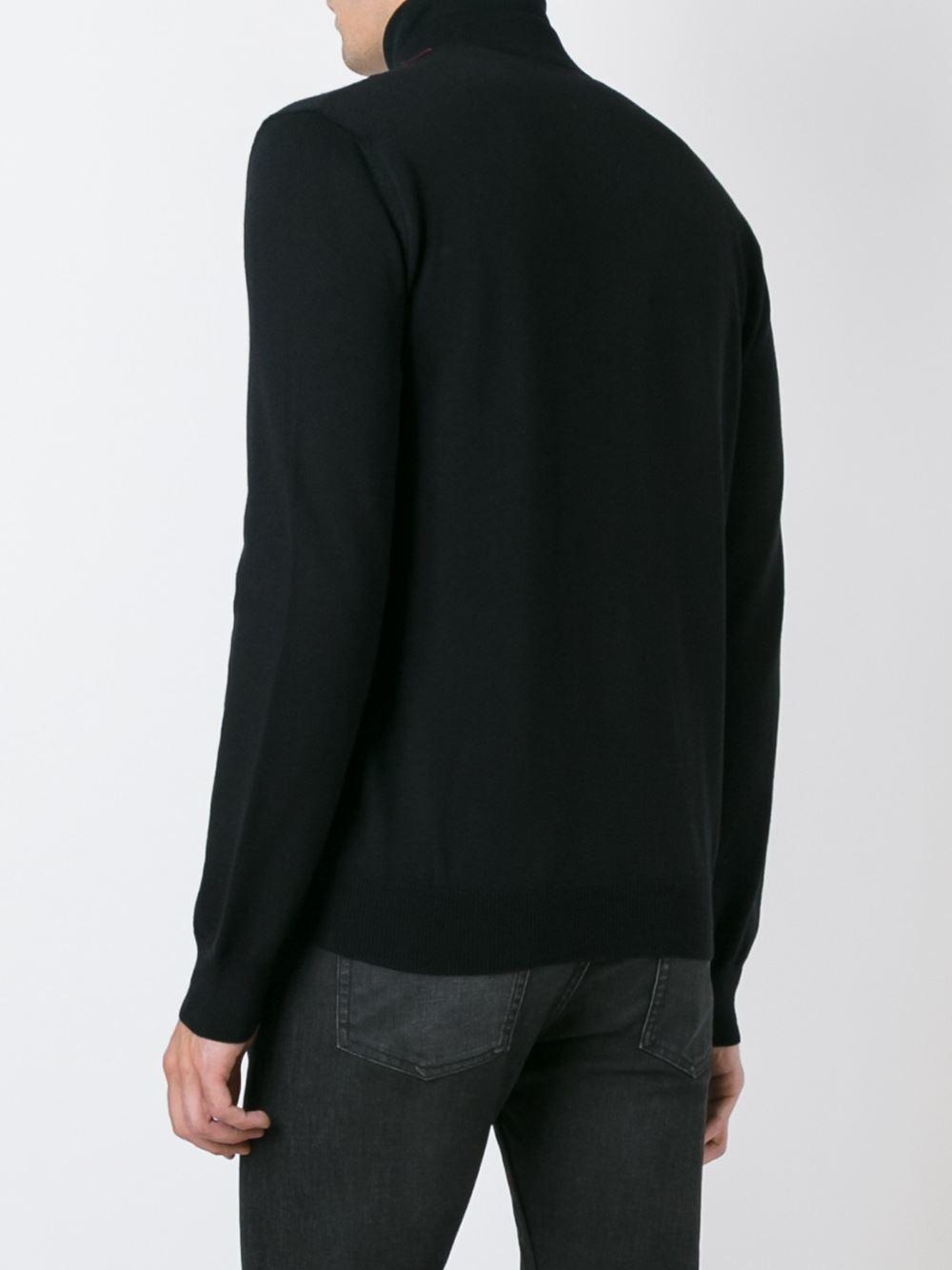 Alexander McQueen Wool Tartan Panel Bomber Jacket in Black for Men