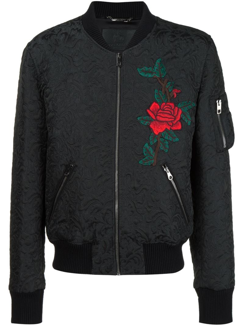 dolce gabbana jacquard bomber jacket in multicolor for men black lyst. Black Bedroom Furniture Sets. Home Design Ideas