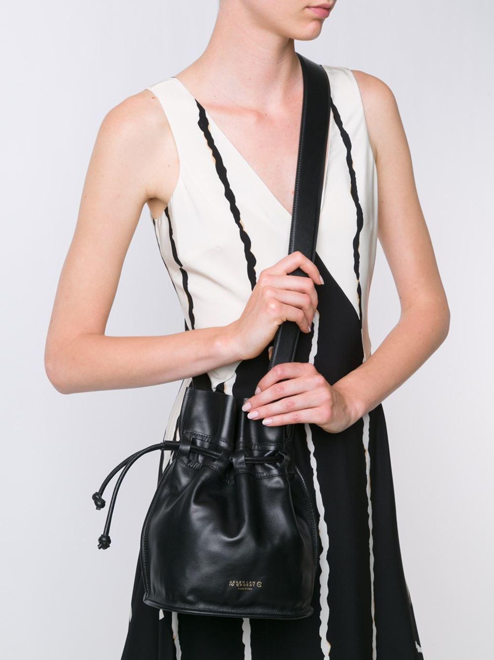 10 Crosby Derek Lam Leather Mini 'bowery' Crossbody Bag in Black