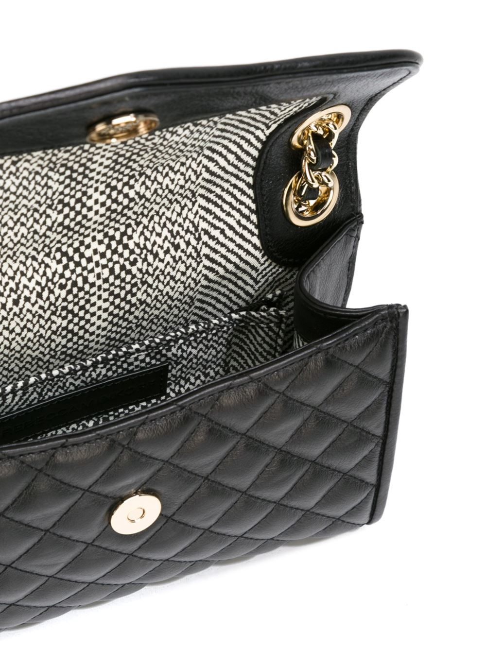 Rebecca minkoff Quilted Crossbody Bag in Black