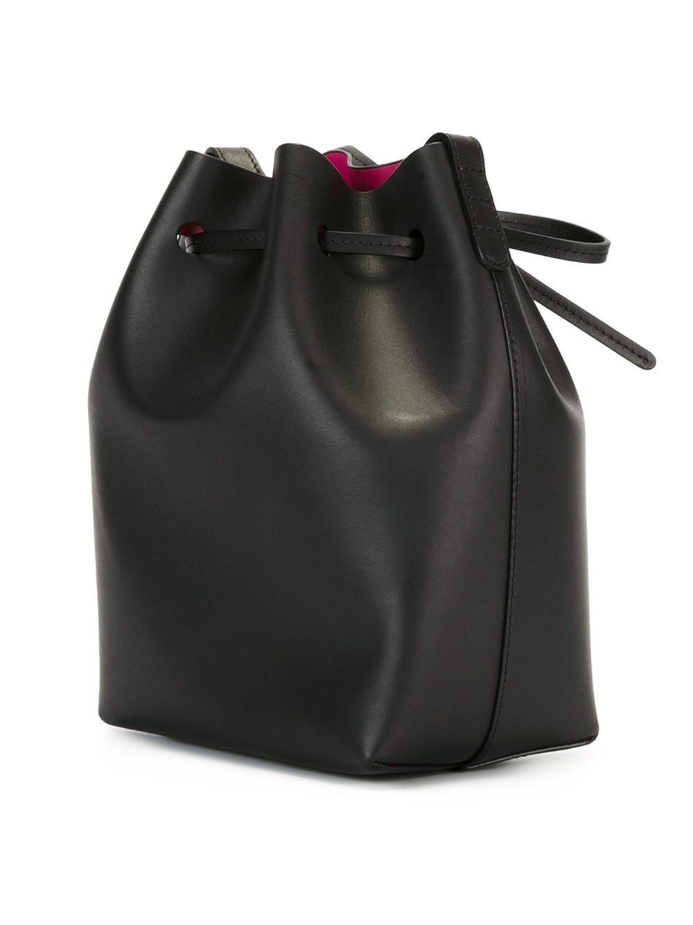 mansur gavriel mini bucket bag in black lyst. Black Bedroom Furniture Sets. Home Design Ideas