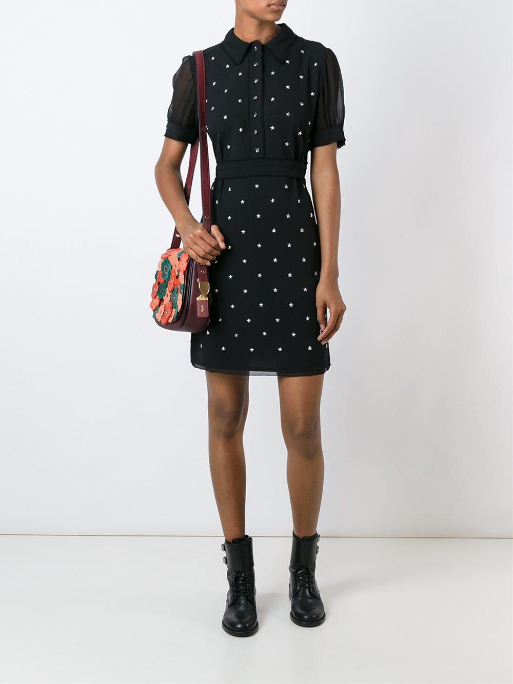Lyst coach star stud embellished dress in black for Dress shirt studs uk