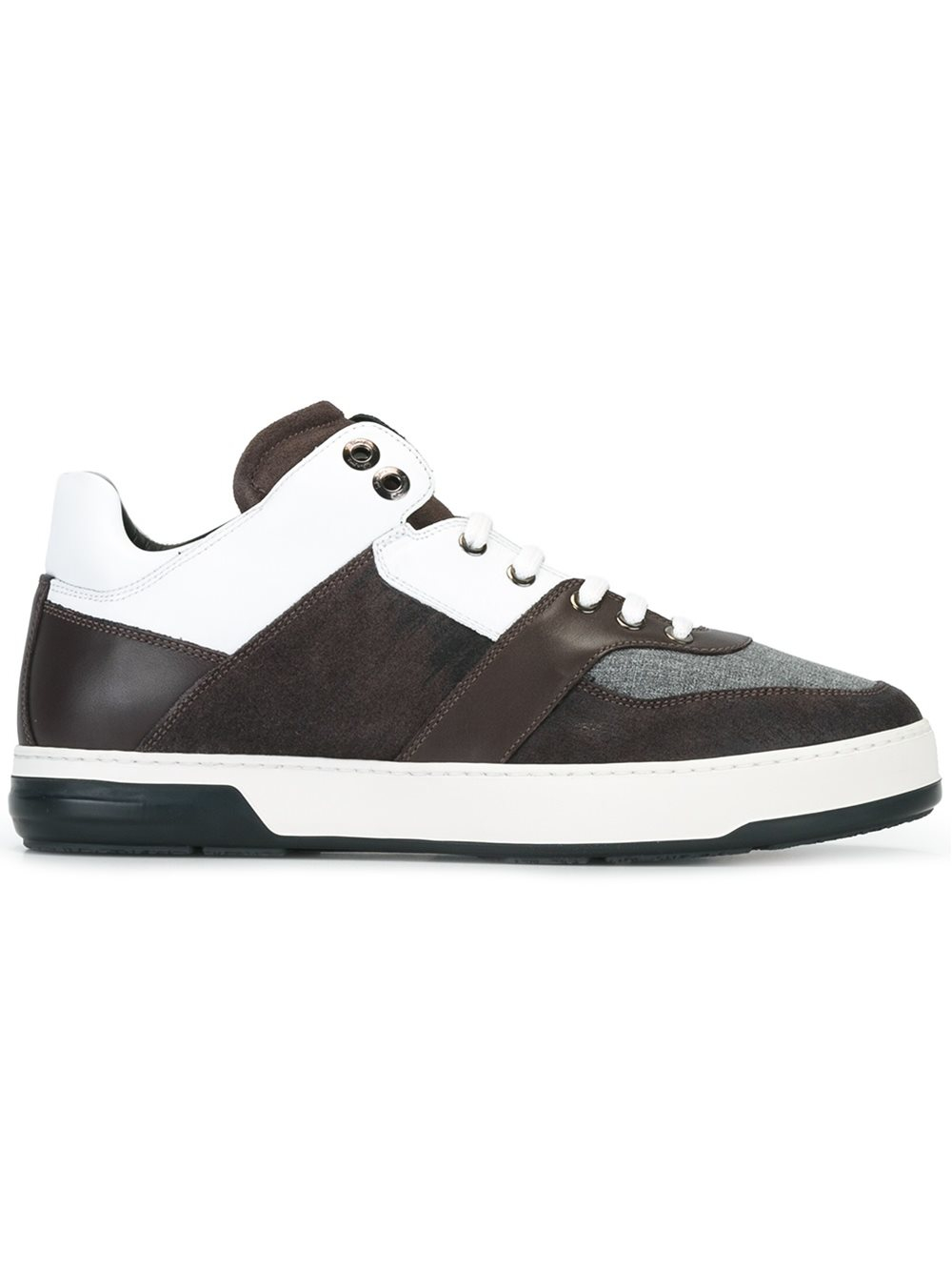 ferragamo panelled sneakers leather rubber 6