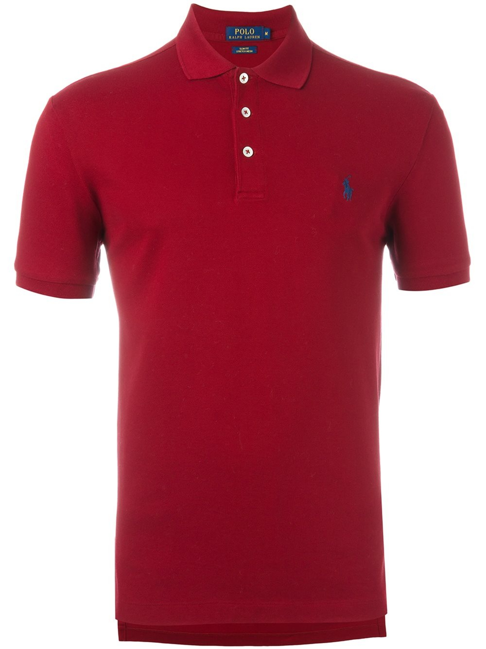 Polo ralph lauren logo embroidered polo shirt in black for for Logo printed polo shirts