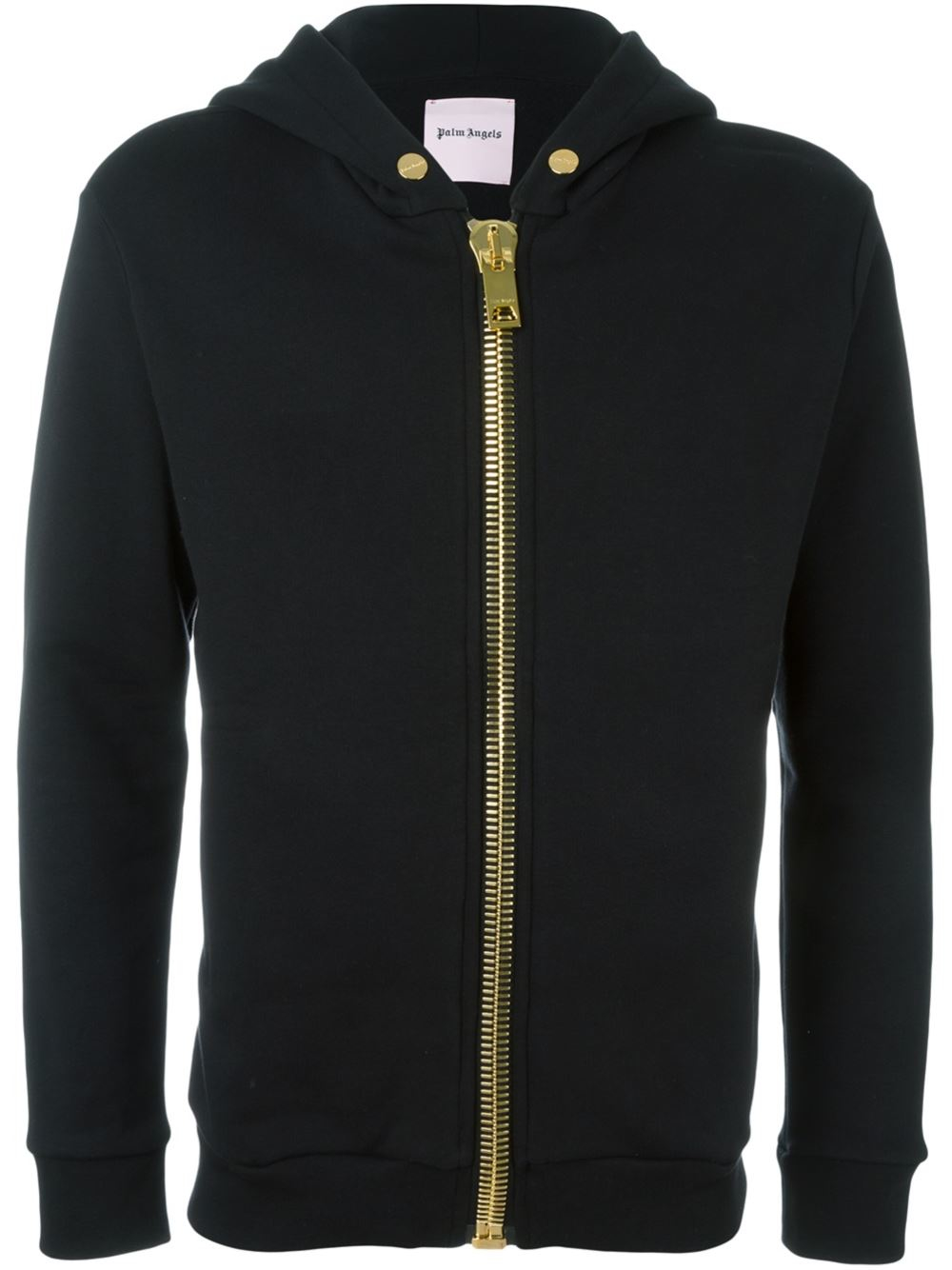 Lyst Palm Angels Zipped Hoodie In Black For Men