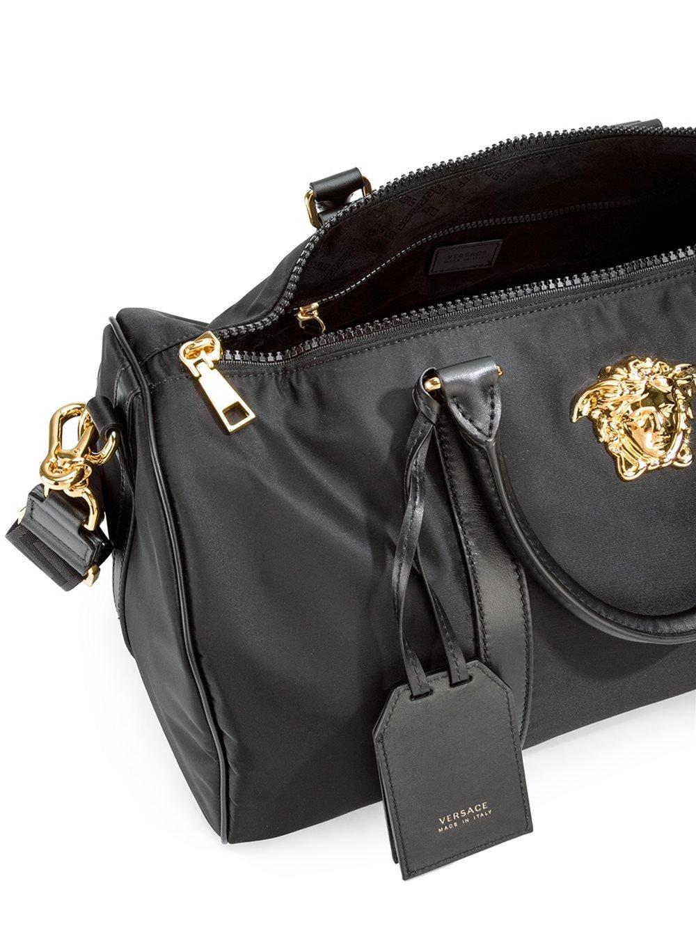 99da56756 Versace 'palazzo Medusa' Duffle Bag in Black for Men - Lyst