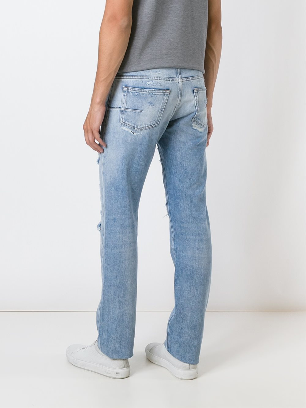 dior homme distressed jeans in blue for men lyst. Black Bedroom Furniture Sets. Home Design Ideas