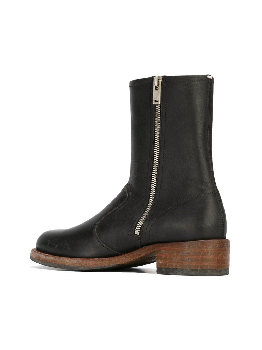 Lyst Maison Margiela Replica Boots In Black