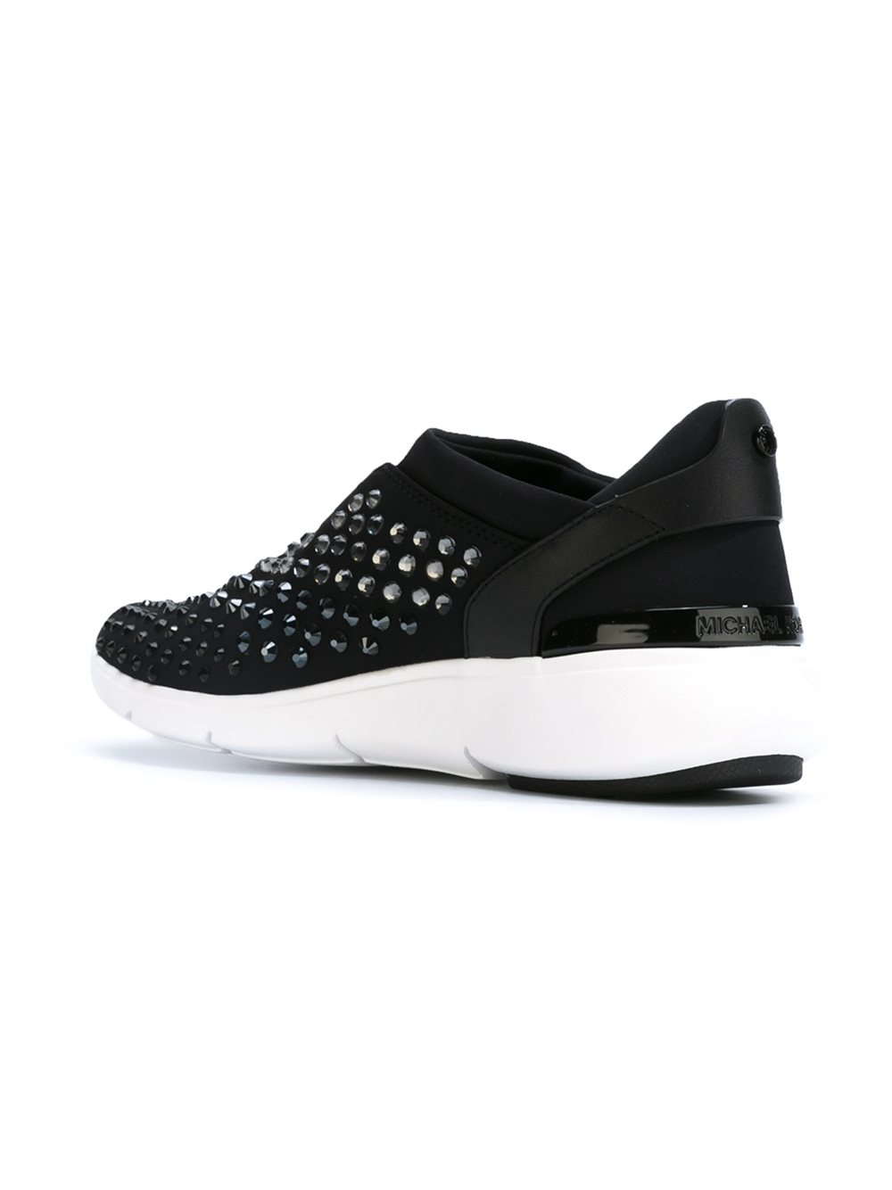 MICHAEL Michael Kors Rubber Embellished 'ace' Sneakers in Black