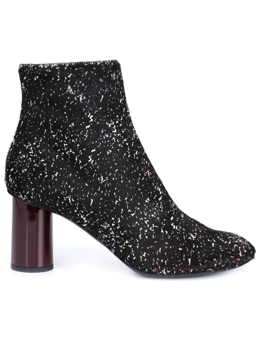 Proenza Schouler Woven Matte And Patent-leather Ankle Boots in Black