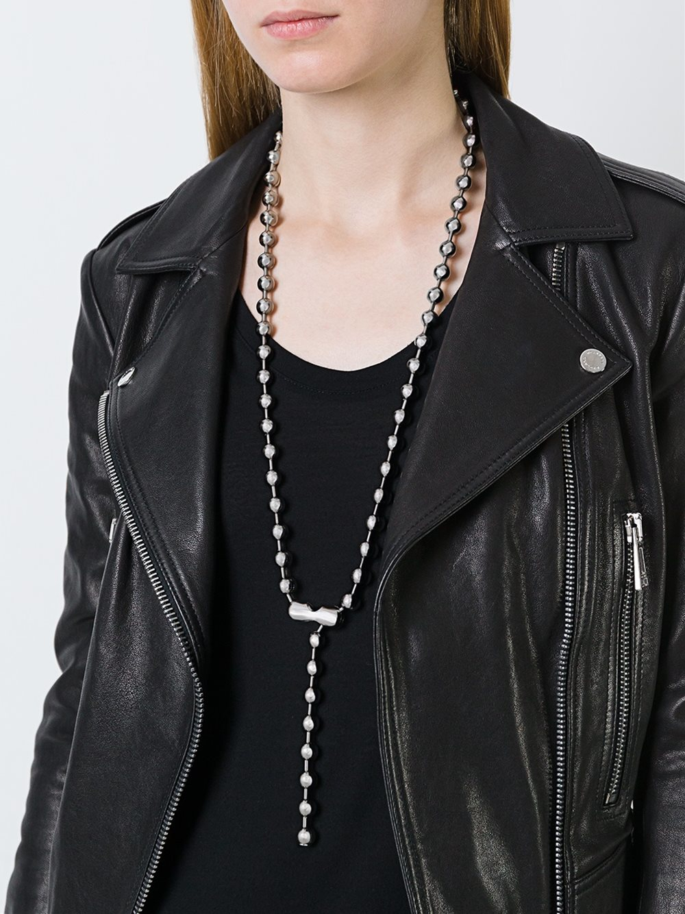 MM6 by Maison Martin Margiela Ball Chain Necklace in Metallic