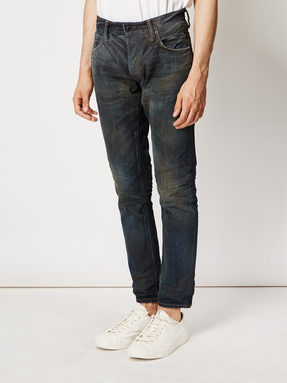 Mastercraft Union Dirty Wash Jeans In Blue For Men Lyst