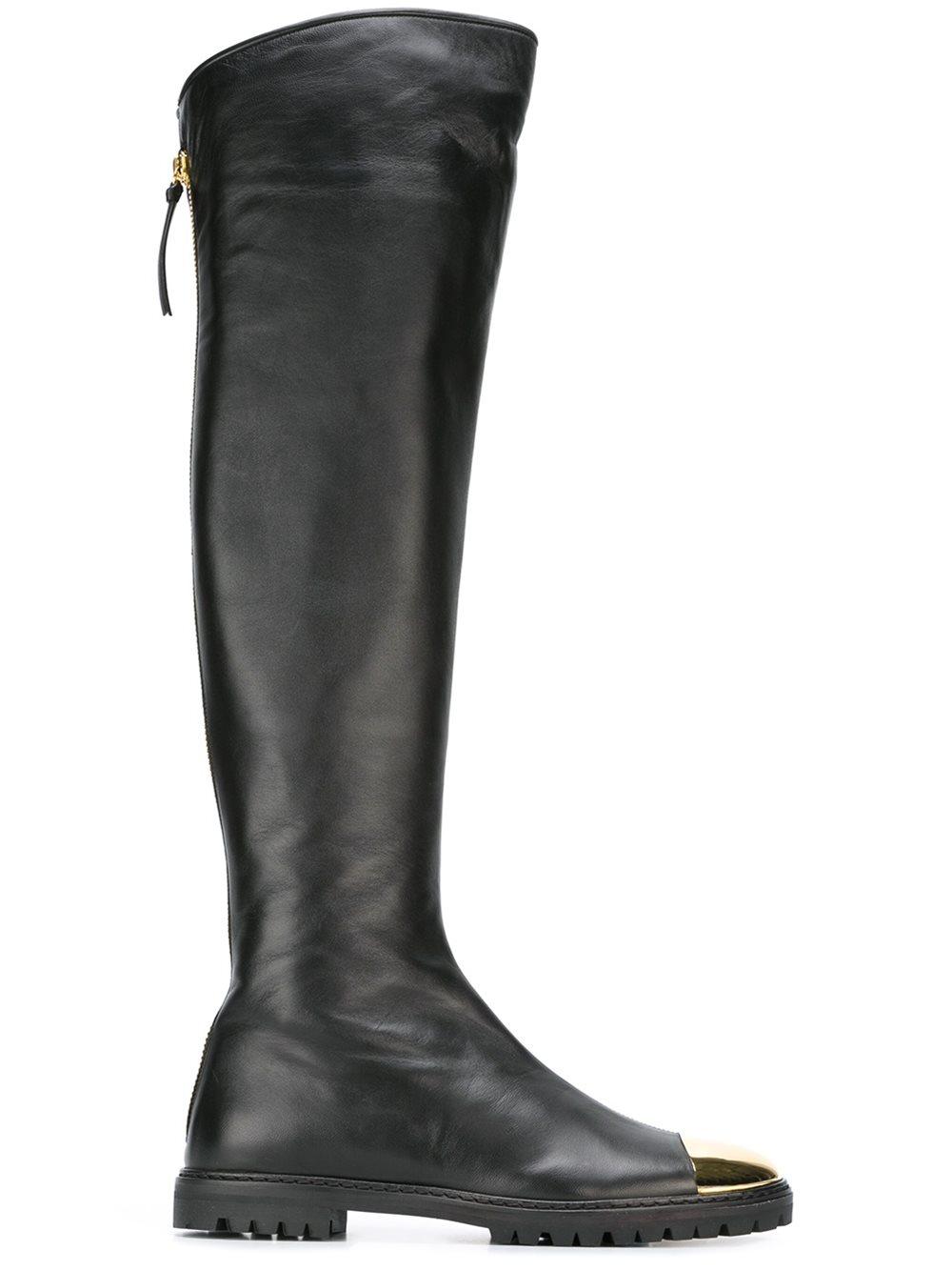 giuseppe zanotti knee high boots in black lyst